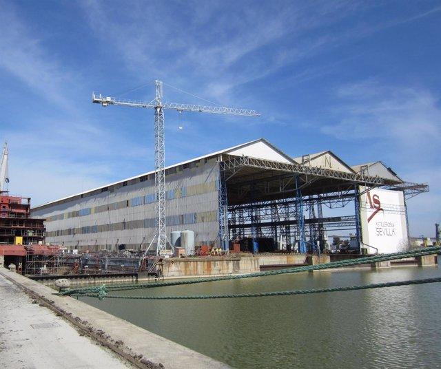 Instalaciones del Puerto de Sevilla.