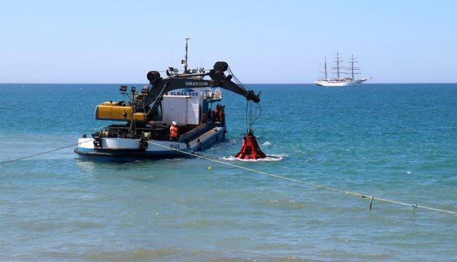 El Ayuntamiento De Málaga Informa: El Ayuntamiento Repara El Emisario Submarino