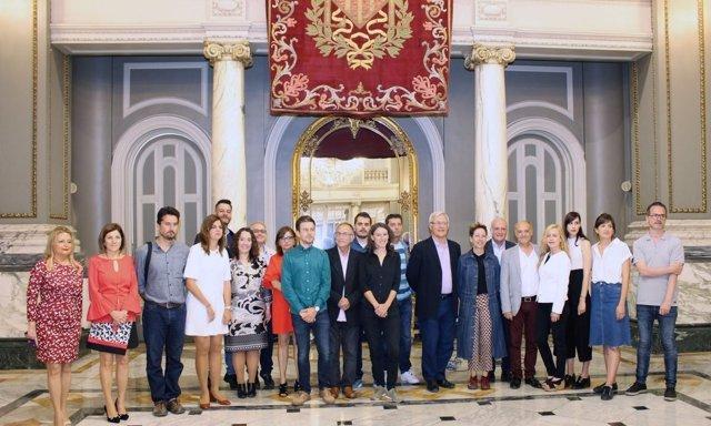Recepción a los nominados a los Premios Max en València