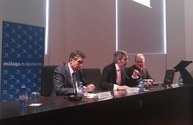 Lesmes, Del Río y Yuste. Encuentro jueces Vigilancia Penitenciaria. Málaga