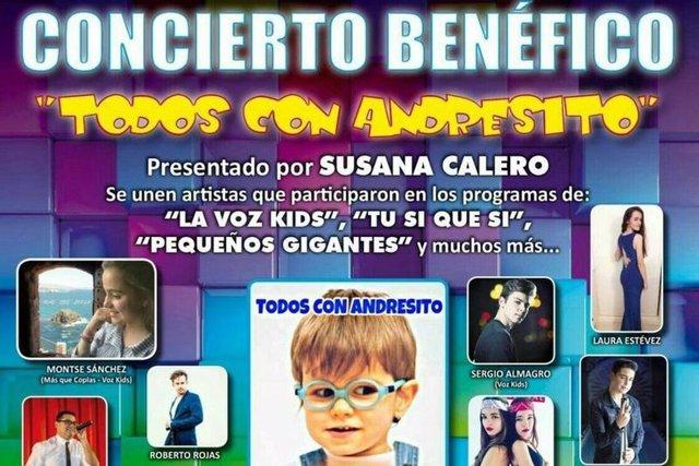 Cartel concierto benéfico Andresito