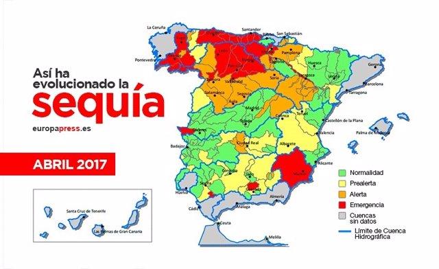 La sequía que afecta a España, en cinco gráficos
