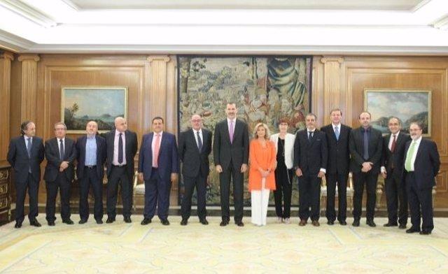 Don Felipe recibe en audiencia a la Federación de Gremios de Editores de España
