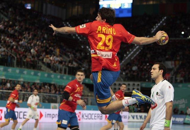 Aitor Ariño España - Algeria Campeonato del mundo Balonmano 2013