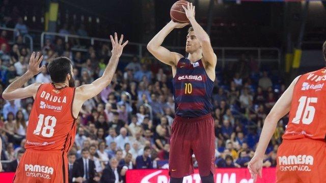 Claver en el Valencia Basket - Barcelona