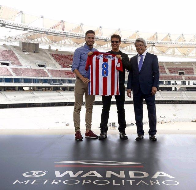 Tom Cruise Saúl Ñíguez Enrique Cerezo Atlético Wanda Metropolitano