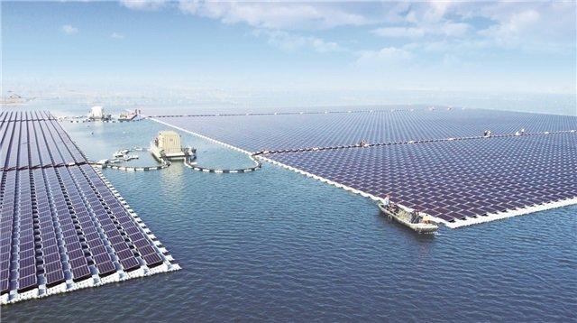 Planta solar flotante en Huainan (China)