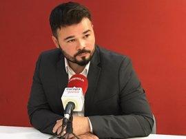"""Rufián (ERC) ve una """"canallada"""" que supuestos patriotas como Moix tengan intereses en Panamá"""