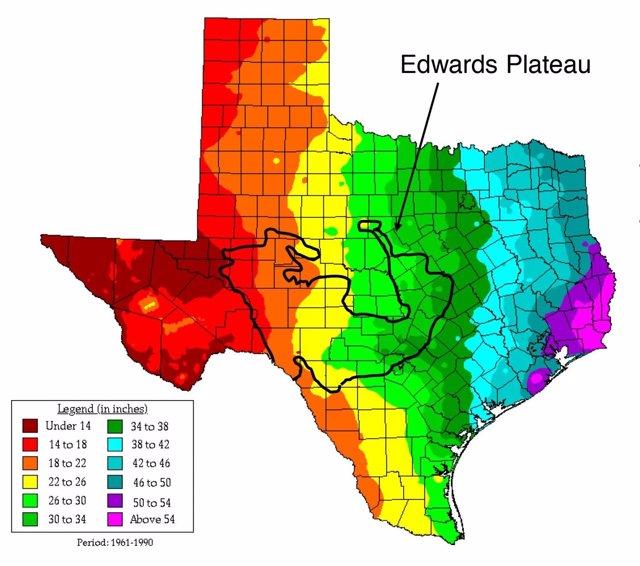 Pluviometría histórica en zona estudiada