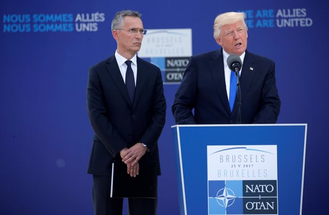 Donald Trump y Jens Stoltenberg