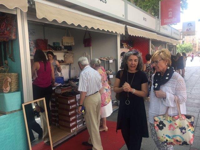 Pelegrín en la inauguración de la III Feria Murcia Centro Verano