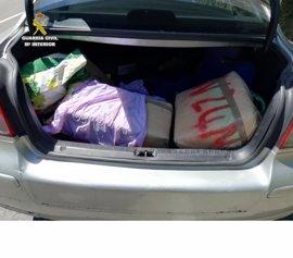 Un detenido con 81 kilos de hachís en un vehículo en la CA-34 en dirección San Roque (Cádiz)