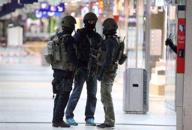 Policías alemanes en una imagen de archivo