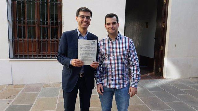 Cristóbal Fernández PSOE Diputación y diego Pérez concejal Campillos y parlament