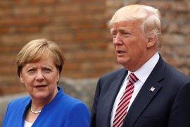 Trump critica las políticas de Merkel en medio de la creciente tensión entre ambos