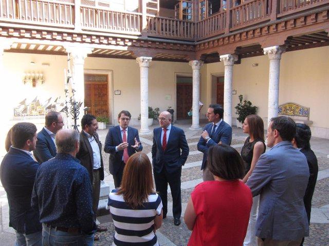 Fernández Mañueco, Carnero y miembros del PP en la Diputación de Valladolid