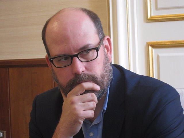 El alcalde de Santiago, Martiño Noriega, en una entrevista con Europa Press