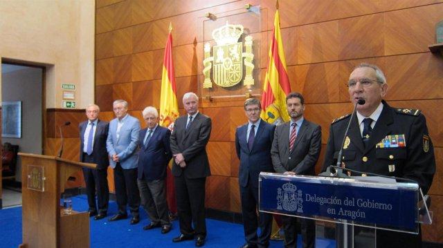 Presentación del nuevo jefe superior de Policía de Aragón, José Ángel González