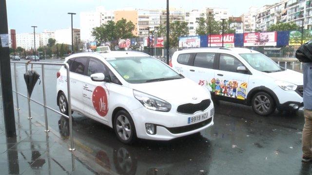 Taxis parados en València