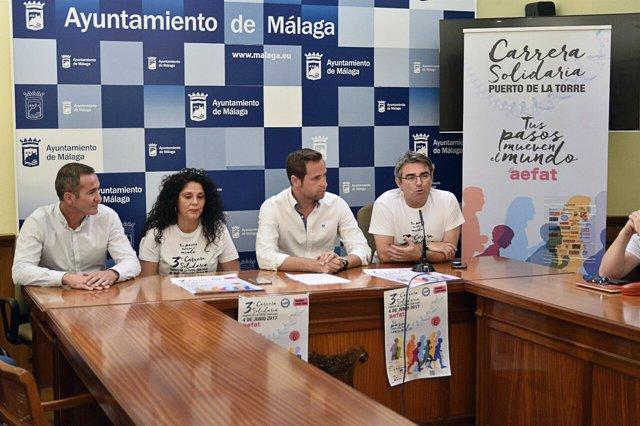 Carrera solidaria puerto de la torre ayuntamiento málaga