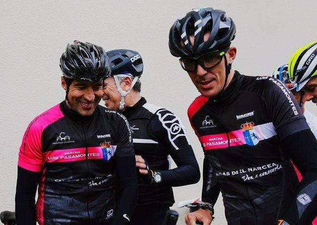 Luis Pasamontes y José Luis 'Chechu' Rubiera, ex ciclistas