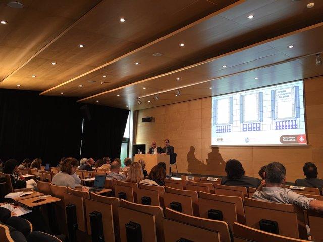 Raül Romeva y Jaume Asens en las Jornadas Transparencia del Ayuntamiento