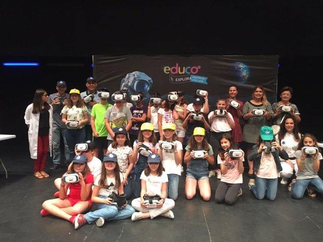Los escolares de Huércal-Overa han participado en la 'Expedición a la luna'.
