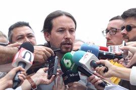 """Pablo Iglesias ve """"vergonzoso"""" que Rajoy tenga que declarar en la Audiencia Nacional y no dimita"""