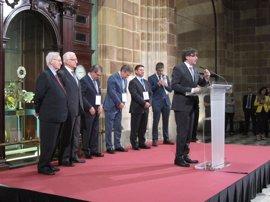 """Puigdemont destaca el comercio, Europa y el Mediterráneo como valores """"inherentes"""" de Catalunya"""