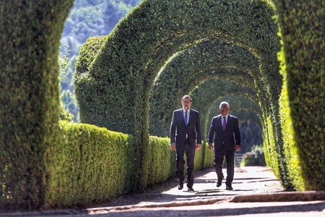Foto de familia con Rajoy y el primer ministro de Portugal