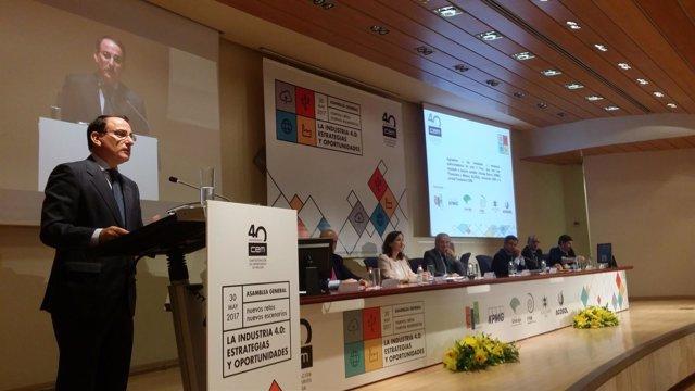 Javier González de Lara en foro empresarial industria 4.0 unicaja azuaga