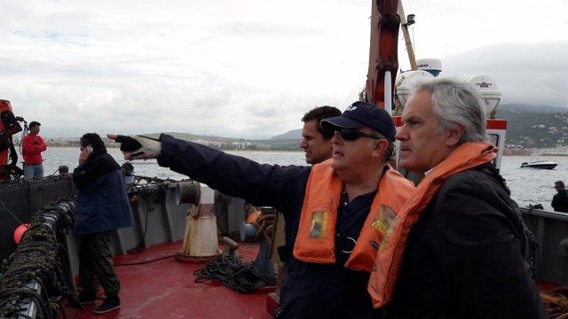 Agustín Muñoz visita el dispositivo del Estado en la pesca del atún