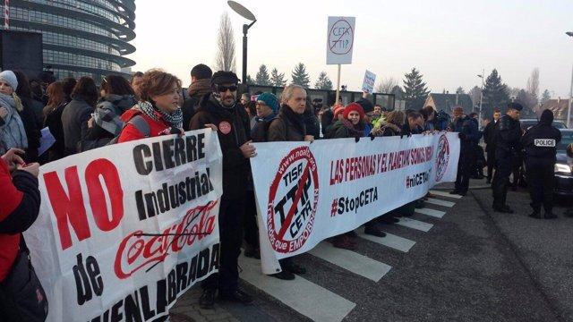 Movilización contra el CETA