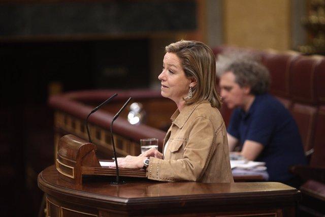 Ana Oramas en el pleno en el Congreso
