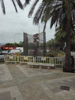 Restauración de la escultura 'Palma'