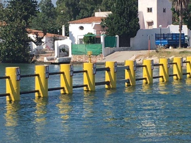 Arreglo de la valla antinarcos del río Guadarranque
