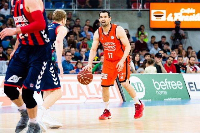 Fernando San Emeterio, jugador del Valencia Basket