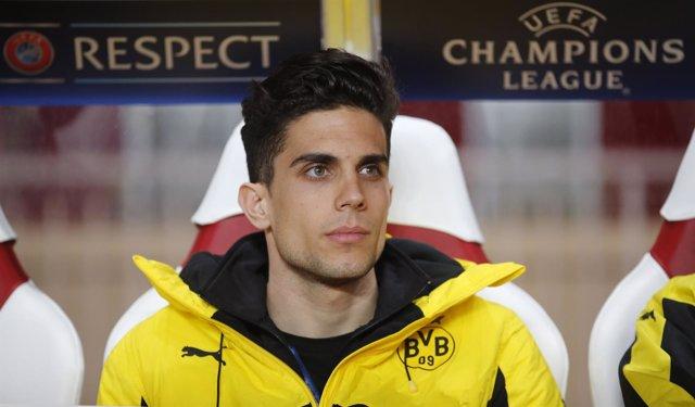 El jugador español del Borussia Dortmund Marc Bartra
