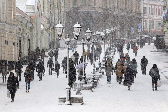 Moscú, nevada, nieve.