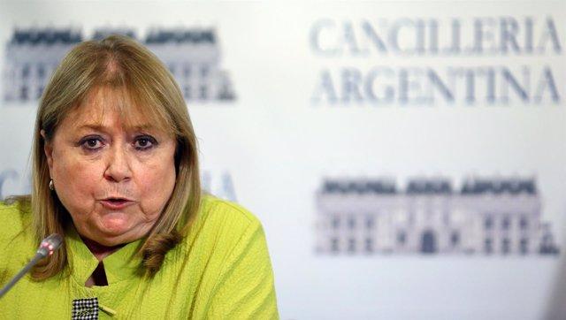 La ministra de Relaciones Exteriores de Argentina, Susana Malcorra