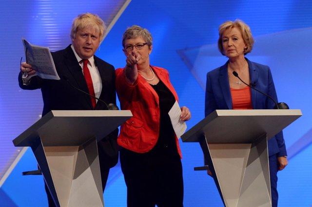 Boris Johnson y Andrea Leadsom