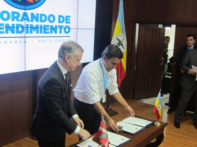 El lehendakari en Colombia