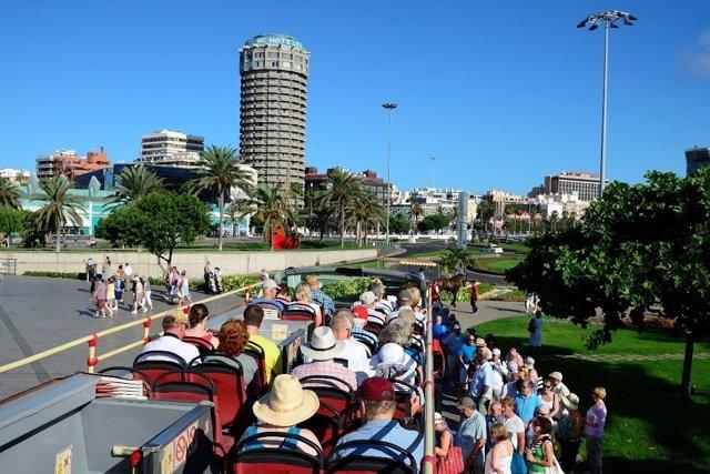 Turistas en Las Palmas de Gran Canaria