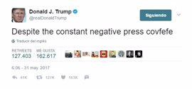 'Covfefe', el tuit viral de Donald Trump al que todo el mundo busca una explicación