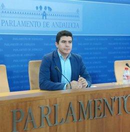 El portavoz parlamentario adjunto de Cs Andalucía, Sergio Romero