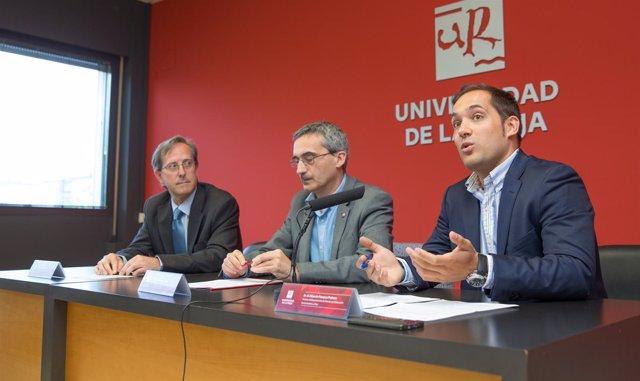 Rubio, Piserra y Fonseca, en la presentación dle estudio