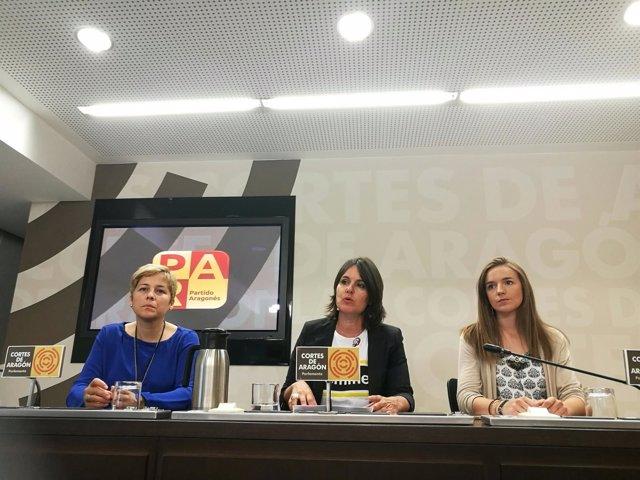 Berta Zapater, Elena Allué y Lucía Guillén