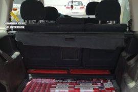 Un detenido y 12.450 cajetillas de tabaco de contrabando intervenidas en varias actuaciones en San Roque