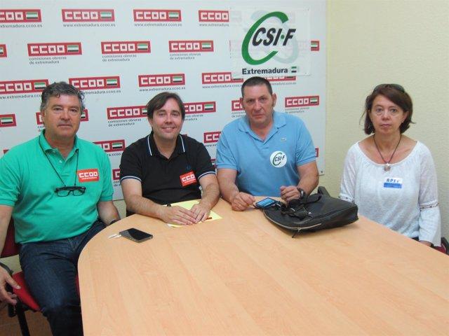 Los sindicatos de la cárcel de Cáceres protestan por los problemas de personal