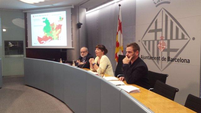Laia Ortiz, Lluís Torrens y Marc Balaguer en rueda de prensa